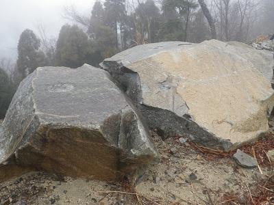 黒原・煤市線の岩石